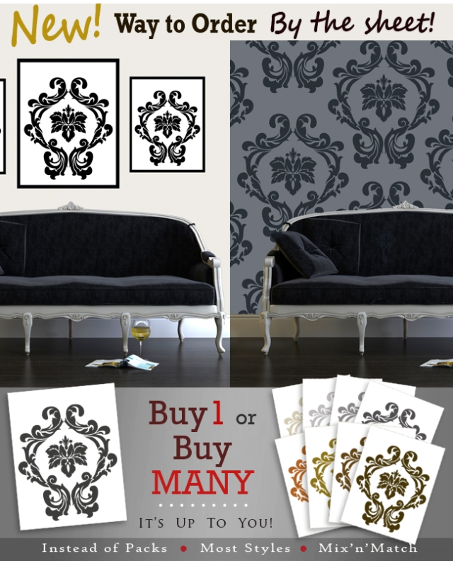 """Shown: """"Damask Too"""" style"""