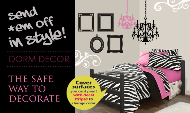 decorate dorms with wall decals